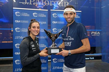 "<span class=""entry-title-primary"">Mohamed El-Shorbagy & Camille Serme Win J.P. Morgan Tournament of Champions</span> <span style=""    display: none;""> - </span><span class=""entry-subtitle"">France's Camille Serme is the champion of the women's competition. </span>"